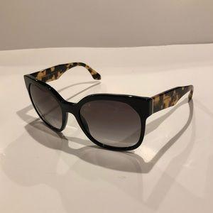 Prada Sunglasses with Black & Tortoise Shell Frame